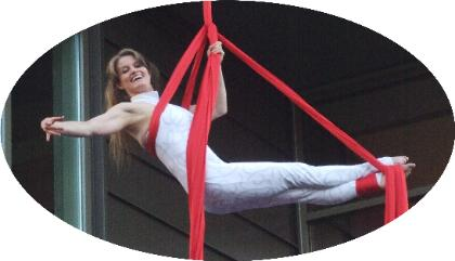 Aerial Silks Solo Circus Performer at Dr. Peter Foundation